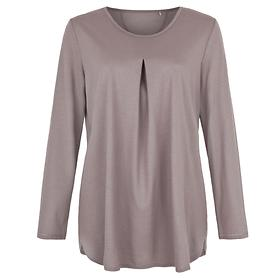 Shirt Nele Langarm taupe, Gr. 36