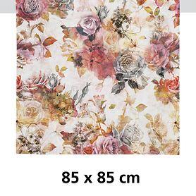 Tischdecke Fall rot/rose 85x85