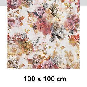 Tischdecke Fall rot/rose 100x100