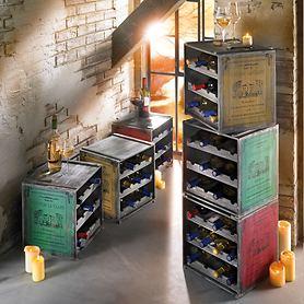 Weinregal/Weinkiste CAISSON aus Tannen-Holz
