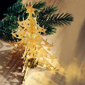 Deko-Metall-Baum gold