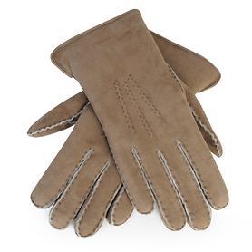 Lammfell-Handschuhe Damen/ Herren hellbraun Gr. 10,5
