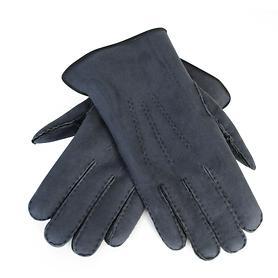 Lammfell-Handschuhe Damen/ Herren grau Gr. 10