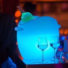 Flaschenkühler So Fresh m. Akku und Farbwechsel