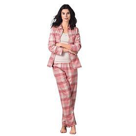 Kuscheliger Pyjama aus kariertem Flanell