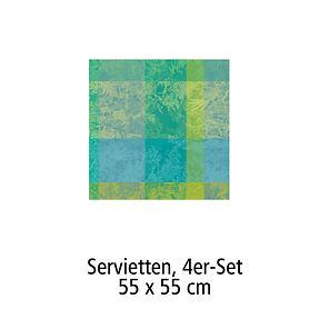 Servietten 55 x 55 cm, 4er-Set Serie Esprit jardin prairie