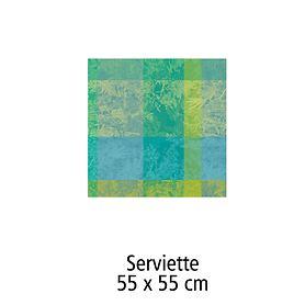 Serviette 55 x 55 cm Serie Esprit jardin prairie