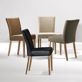 Design-Stühle Ella. Lederbezug oder Lodenbezug