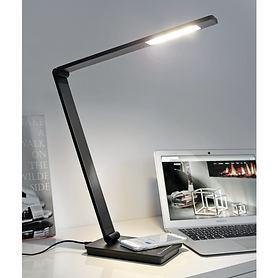 LED-Schreibtischlampe Uli mit Ladefunktion weiß