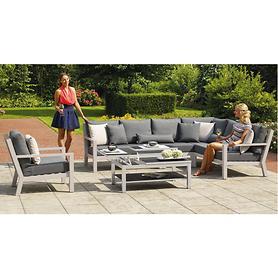 Aluminium-Lounge-Gartenmöbel mit Allwetterkissen