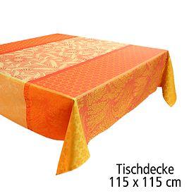Tischdecke 115 x 115 cm Tischgarnitur Graminée