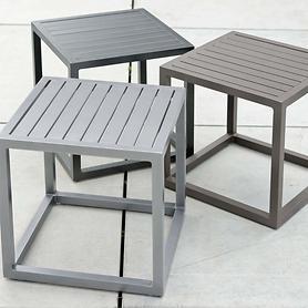 Aluminium-Beistelltische pulverbeschichtet