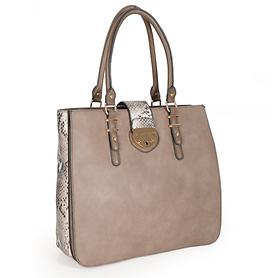 Handtasche Anja taupe H 33 x B 37,5 x T 13 cm
