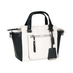 Handtasche Audrey schwarz-weiß