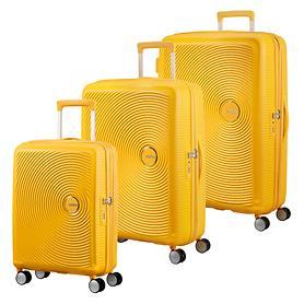 American Tourister Soundbox Trolleys, golden yellow, 4 Rollen