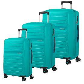 American Tourister Sunside Trolleys, aero turquoise, 4 Rollen