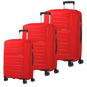 American Tourister Sunside Trolleys, sunset red, 4 Rollen