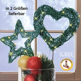 LED-Garden Star & Heart