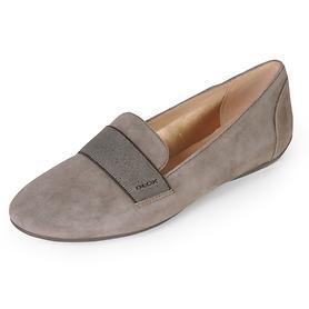 Veloursleder-Loafer Charlene grau Gr. 36