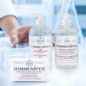 Desinfektionsgels und -seifen Immunity