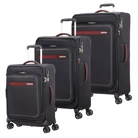 American Tourister AirBeat Trolleys, universe black, 4 Rollen
