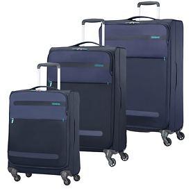 American Tourister Herolite Trolleys & Reisetasche midnight blue