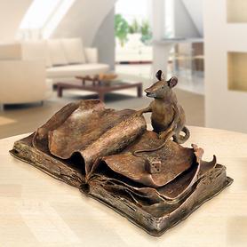 Skulptur Le Rat bibliothèque