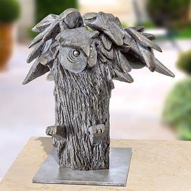Skulptur Gufo Reale von Rinaldo Bigi