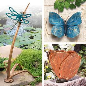 Skulpturen Libelle & Schmetterling