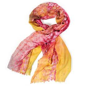 Damen Schal Solero rot-gelb, Kashmir-Mischgewebe