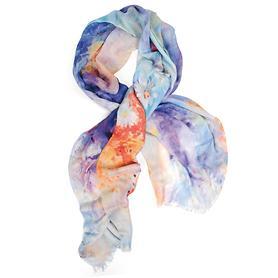 Damen Kaschmir-Schal Pastel Flowers, Kashmir-Mischgewebe