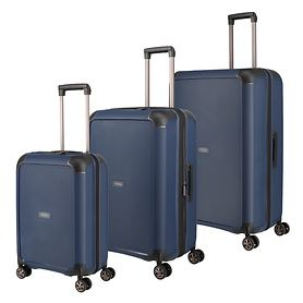 TITAN Compax Trolleys, navy, 4 Rollen