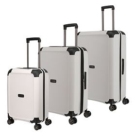 TITAN Compax Trolleys, white, 4 Rollen