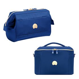 Delsey Montrouge Kulturtasche und Beauty Case, Blau