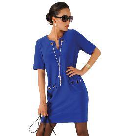 Designer Minikleid mit Kettendetails