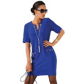 Kleid Mira blau, Gr. 44