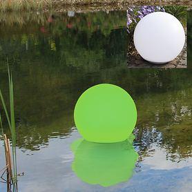 LED-Solarkugel inkl. Erdspieß & schwimmfähig D 30 cm