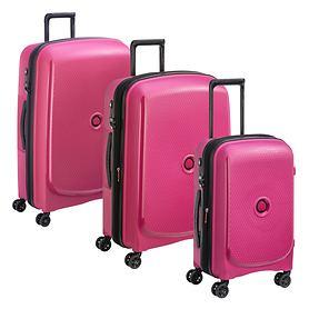 Delsey Belmont Plus Trolleys, Pink, 4 Rollen
