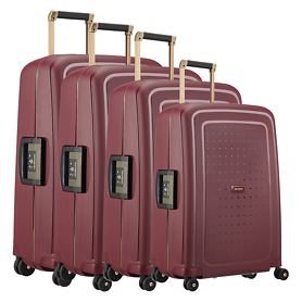 Samsonite S'Cure DLX Trolleys, burgundy/gold deluscious, 4 Rollen