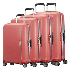 Samsonite Mixmesh Trolleys, red/pacific blue, 4 Rollen