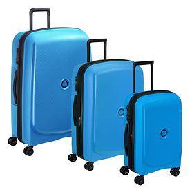 Delsey Belmont Plus Trolleys, Metallic blu, 4 Rollen