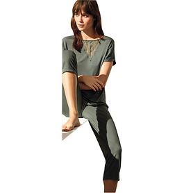 Pyjama Dana grün Gr. 36/38