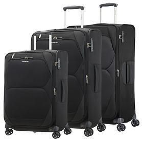 Samsonite Dynamore Trolleys, Black, 4 Rollen