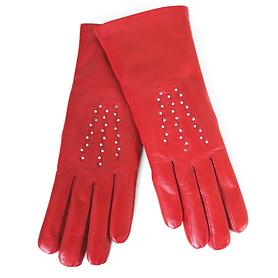 Lederhandschuhe Gloria rot Gr. 8