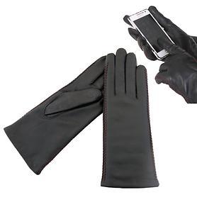Nappaleder Touchscreen-Handschuh Tessa, schwarz, Gr. 7