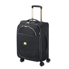 Delsey Montrouge, 55 cm, Trolley, schwarz, 4 Rollen, Kabinengepäck, erweiterbar