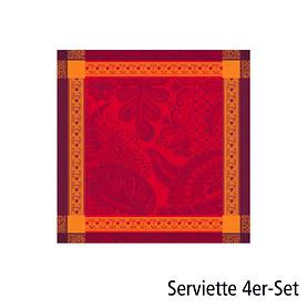 Servietten Isaphire Agate 4er-Set rot 54x54 cm