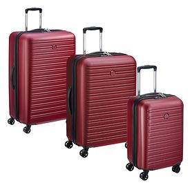 Delsey Segur 2.0 Trolleys, Rot, 4 Rollen