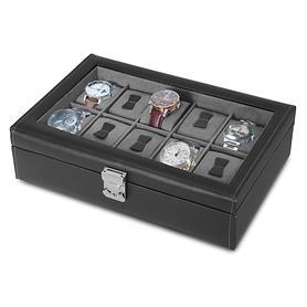 Image of Uhrenschatulle für 10 Uhren mit Glaseinsatz