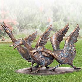 Skulptur Gänsegruppe